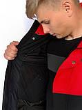 Демисезонная Куртка Waterproof Intruder (красно - черный), фото 5