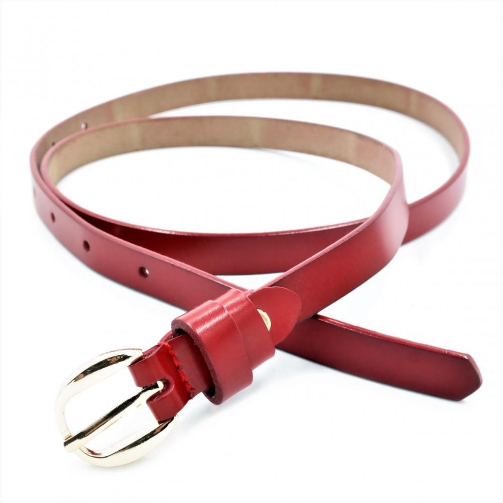 Женский кожаный ремень Weatro Красный nwzh-15k-24