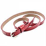 Женский кожаный ремень Weatro Красный nwzh-15k-24, фото 2