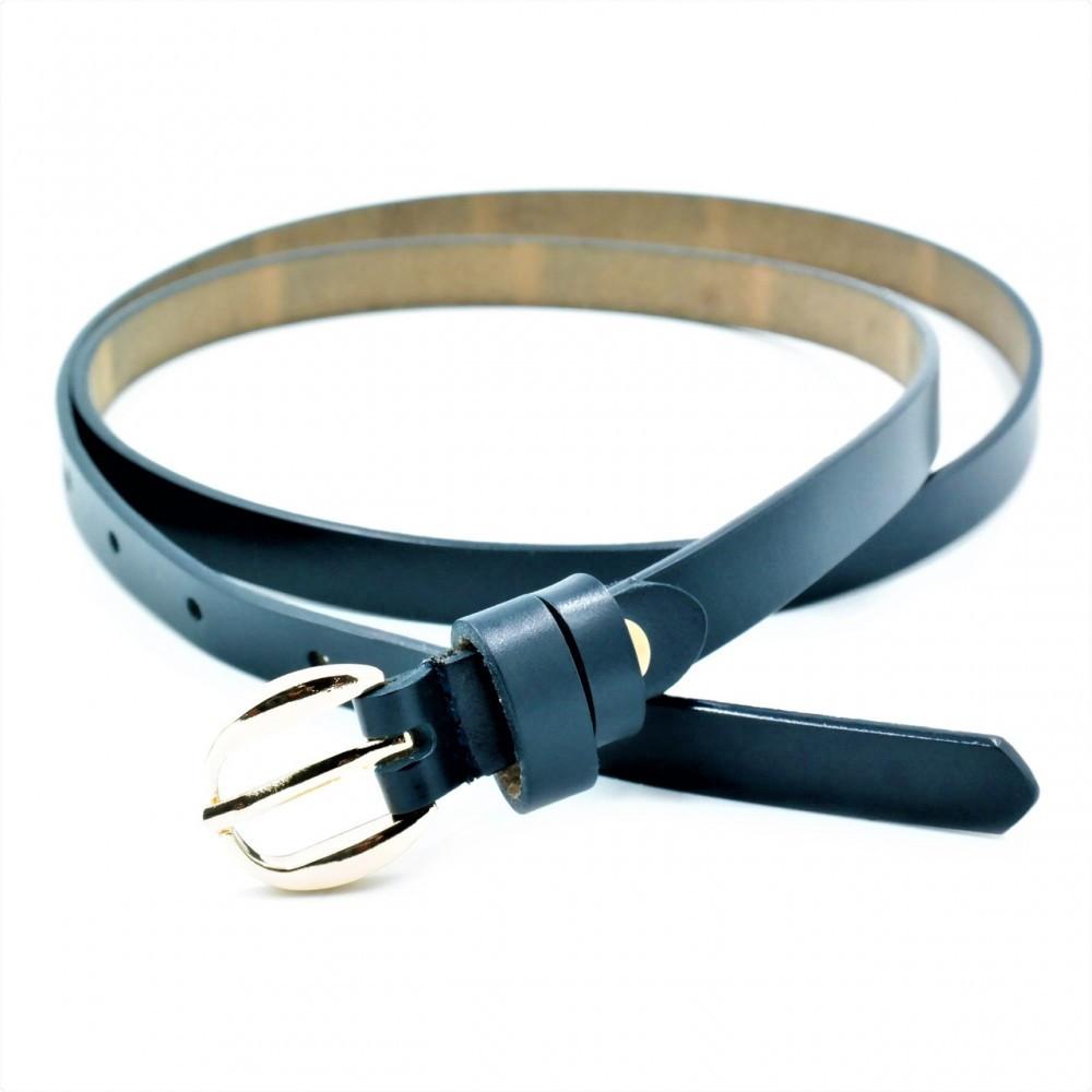Женский кожаный ремень Weatro Тёмно-синий nwzh-15k-43