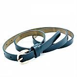Женский кожаный ремень Weatro Тёмно-синий nwzh-15k-43, фото 2