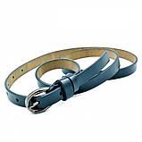 Женский кожаный ремень Weatro Тёмно-синий nwzh-15k-47, фото 2