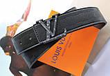 Кожаный ремень Louis Vuitton унисекс black, фото 4