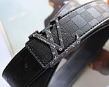 Кожаный ремень Louis Vuitton унисекс black, фото 5
