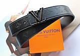 Кожаный ремень Louis Vuitton унисекс черный, фото 2
