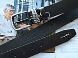 Кожаный ремень Massimo Dutti черный, фото 3
