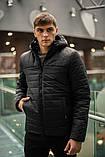 """Демисезонная Куртка """"Temp"""" бренда Intruder (черная), фото 2"""