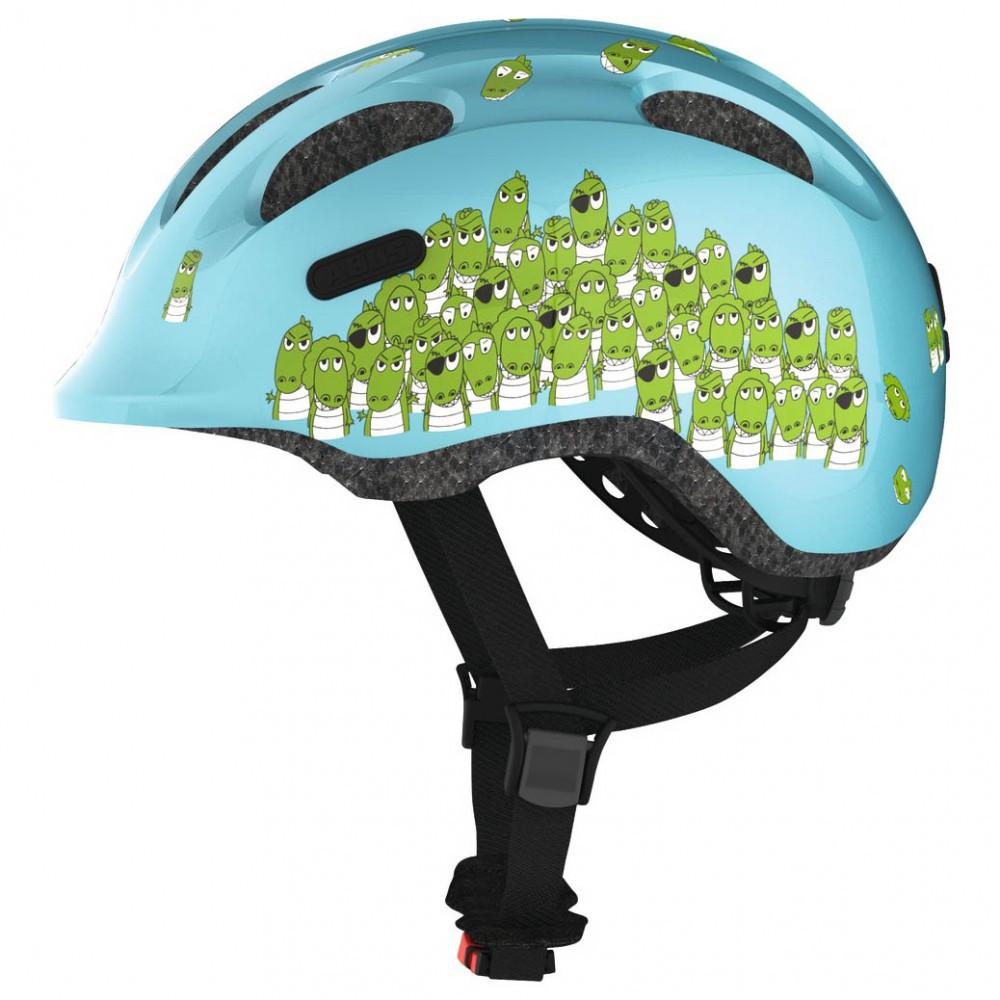 Велосипедний дитячий шолом ABUS SMILEY 2.0 M 50-55 Blue Croco 725777