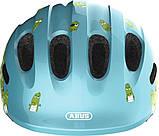 Велосипедний дитячий шолом ABUS SMILEY 2.0 M 50-55 Blue Croco 725777, фото 2