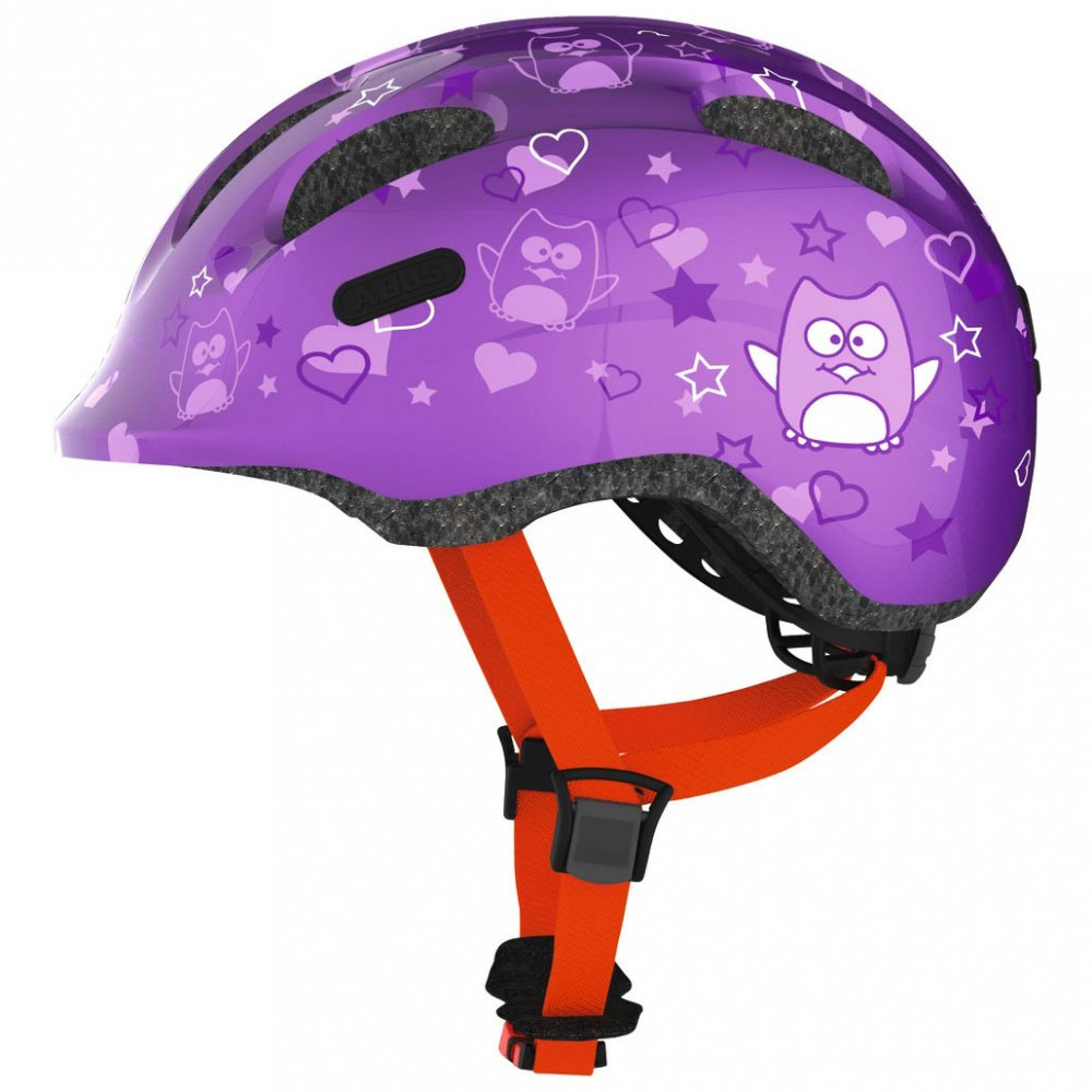 Велосипедний дитячий шолом ABUS smiley 2.0 S 45-50 Purple Star 725685