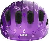 Велосипедний дитячий шолом ABUS smiley 2.0 S 45-50 Purple Star 725685, фото 2