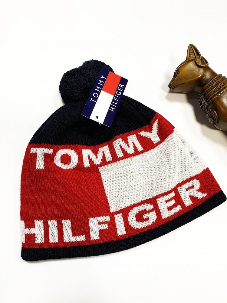 Шапка Tommy Hilfiger classic темно-синяя
