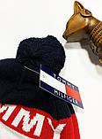 Шапка Tommy Hilfiger classic темно-синяя, фото 2