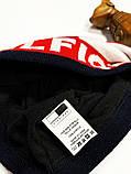 Шапка Tommy Hilfiger classic темно-синяя, фото 3