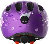 Велосипедний дитячий шолом ABUS smiley 2.0 M 50-55 Purple Star 725692, фото 3