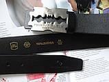 Мужской ремень Philipp Plein Silver Blade черный, фото 2