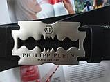 Мужской ремень Philipp Plein Silver Blade черный, фото 3