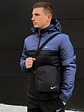 Ветровка Анорак Синий - чёрный Найк, Nike + Штаны + подарок Барсетка, фото 2