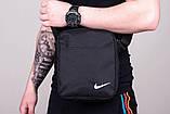 Ветровка Анорак Синий - чёрный Найк, Nike + Штаны + подарок Барсетка, фото 3