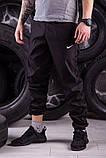 Ветровка Анорак Синий - чёрный Найк, Nike + Штаны + подарок Барсетка, фото 4