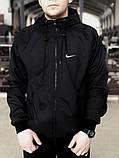 Комплект Чёрный Ветровка Найк (Nike) + Штаны + Барсетка в подарок. Спортивный костюм, фото 9