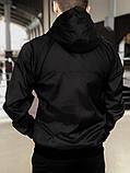 Комплект Чёрный Ветровка Найк (Nike) + Штаны + Барсетка в подарок. Спортивный костюм, фото 10