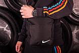 Мужской Чёрный весенний костюм. Анорак  Найк, Nike + Штаны  + подарок Барсетка, фото 5