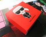 Кожаный женский ремешок Karl Lagerfeld пряжка серебро черный, фото 4