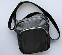 """Мужская сумка """"Toro"""" среднего размера из натуральной кожи черная"""