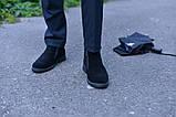 Ботинки замшевые классика черные, фото 2