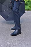 Ботинки кожаные черные укороченные, фото 2