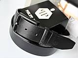Мужской подарочный набор Philipp Plein 03 - ремень и кошелек черные, фото 2