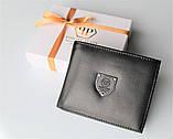 Мужской подарочный набор Philipp Plein 03 - ремень и кошелек черные, фото 5