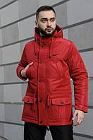 Парка Зима Nike мужская красная