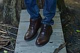 Ботинки броги коричневые натуральная кожа, фото 2
