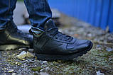 Ботинки спортивные натуральная кожа черные, фото 2