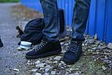Ботинки черные укороченные натуральная замша, фото 2