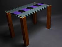 Стол обеденный из стекла модель Накидка