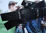 Мужской ремень для джинсов Massimo Dutti с черной пряжкой черный, фото 2