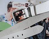 Мужской кожаный ремень Philipp Plein для джинсов white, фото 2