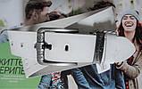 Мужской кожаный ремень Philipp Plein для джинсов white, фото 3