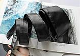 Женский широкий пояс кушак черный, фото 4
