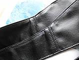 Женский широкий пояс кушак черный, фото 9