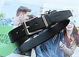 Мужской стильный кожаный ремень Tommy Hilfiger чёрный, фото 2