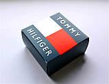 Мужской стильный кожаный ремень Tommy Hilfiger чёрный, фото 4