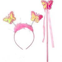 Набор ободок и жезл «Бабочка»