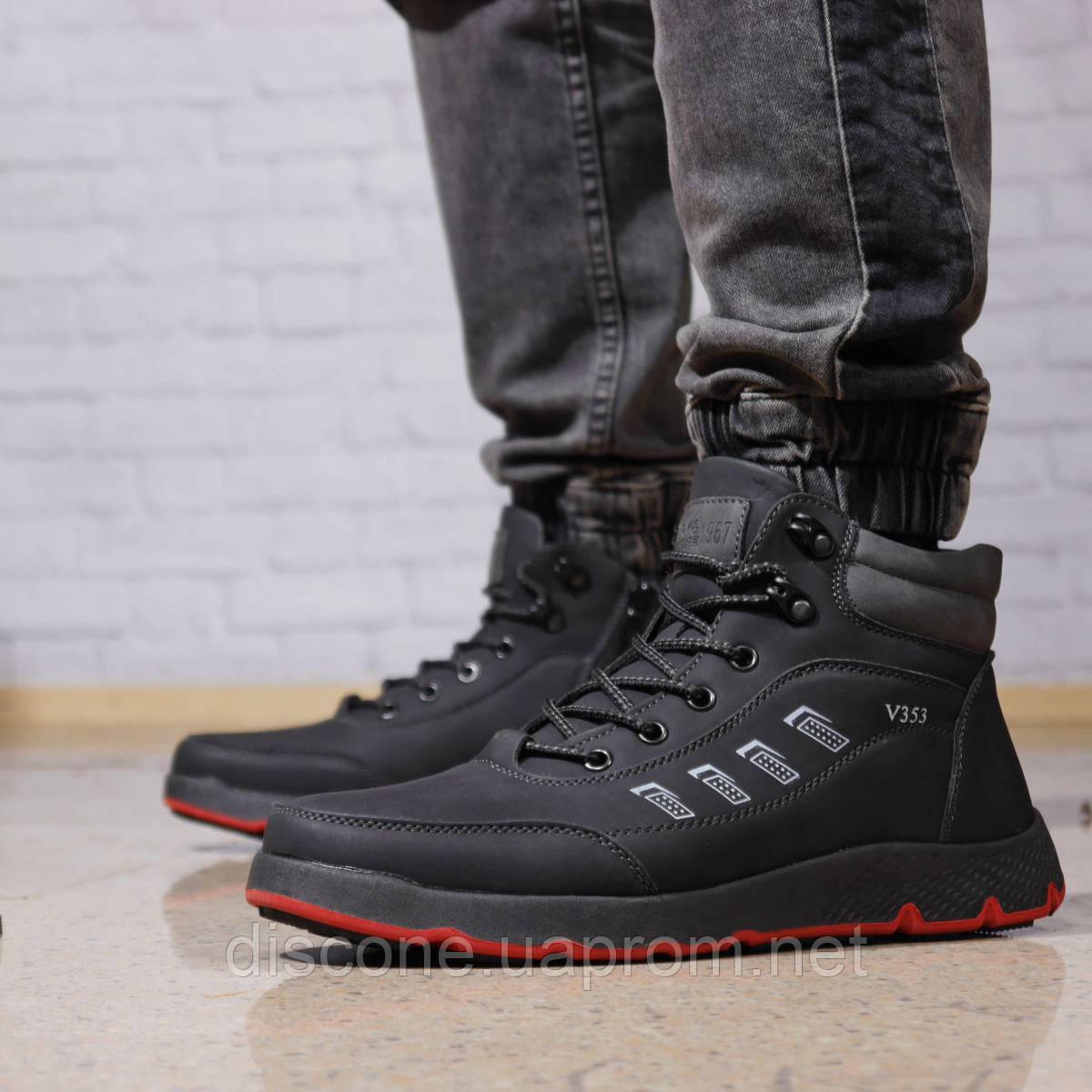 Зимние мужские ботинки 31891 ► Work and Leisure (на меху, в коробке), черные ✅SALE! 13% [ 44 45 ] ►