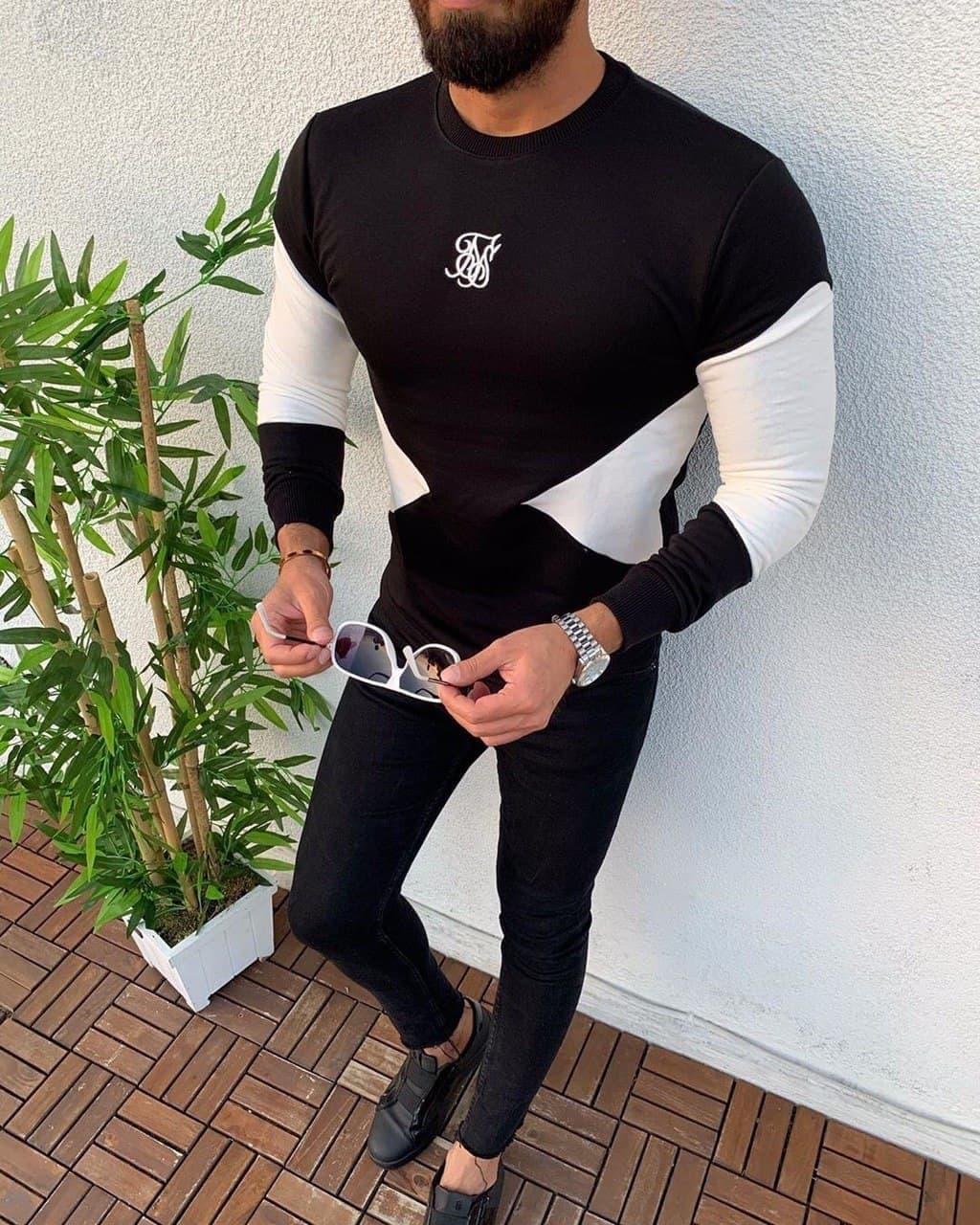 Мужская кофта худи Sik Silk M663 черная