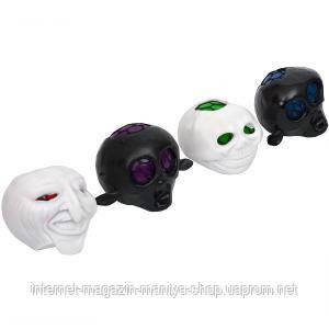 Игрушка «Лизун»  череп с мозгами