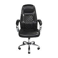 Кресло для руководителей Richman Флоренция хром чорне
